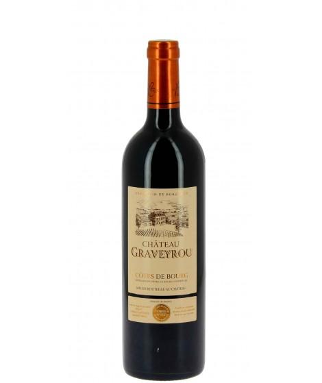 Vin rouge Bordeaux Côte de Bourg - Château Graveyrou 75cl