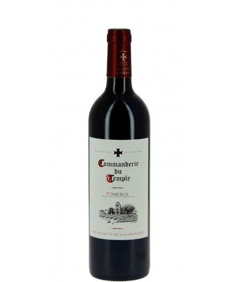 Vin rouge Bordeaux Pomerol - Commanderie du Temple 75cl